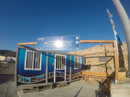 Accueil du centre de plongée de l'Ile Rousse en Corse